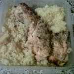 Grilled Salmon and Couscous – David