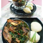 Efo Riro Nigerian Soup Recipe with Pounded Yam