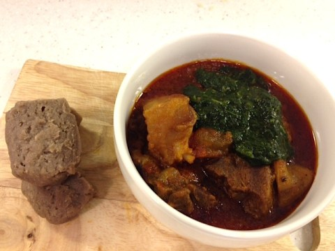 ewedu soup and amala