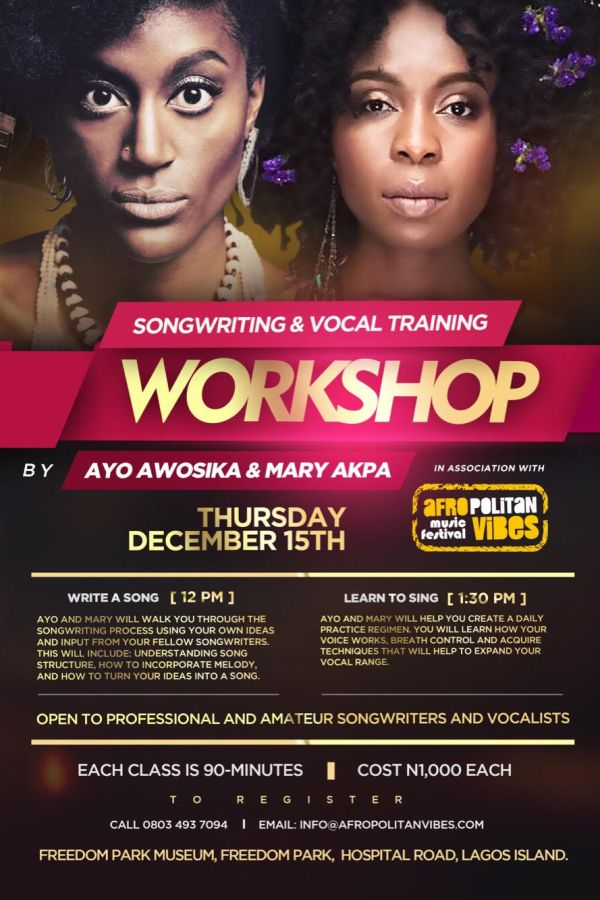 Ayo & Mary Workshop