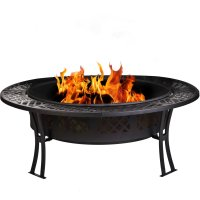 Amazon: CobraCo Diamond Mesh Fire Pit with Screen and ...