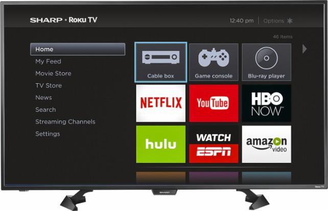Best Buy Sharp 43 inch Roku TV $17999