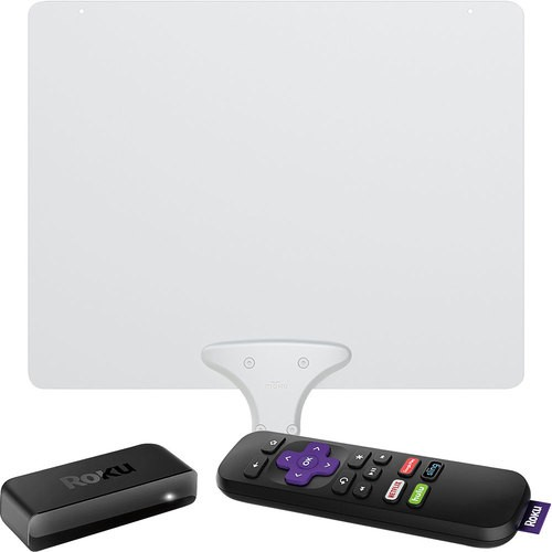 Roku Express Streaming Media Player  Mohu Leaf 50 Amplified Indoor