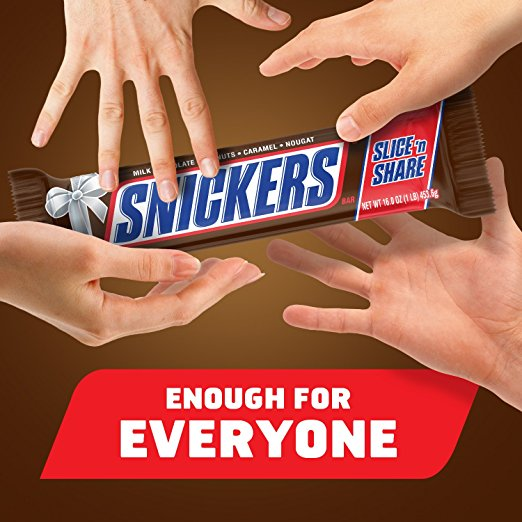 Amazon Almost Lowest Price SNICKERS Slice n\u0027 Share Giant Chocolate