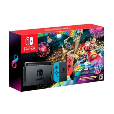 Best Buy Black Friday Now: Nintendo - Switch with Mario Kart 8 Deluxe Console Bundle - Neon Blue ...