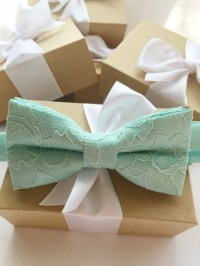 Mint Bow Tie | aftcra