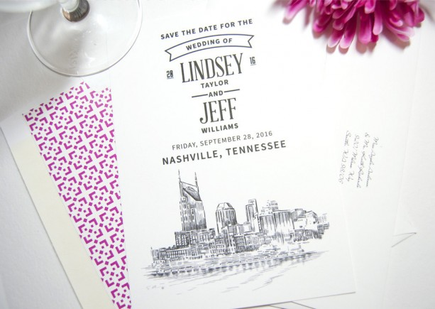 Nashville Water View Save the Date Cards aftcra