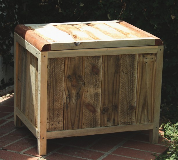 Storage Chest Reclaimed Pallet Wood Rustic Chest Aftcra