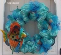 Deco Mesh Wreath, Ribbon Wreath, Summer Wreath, Door Decor ...