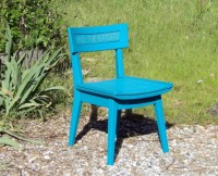 2 Chairs Vintage Pair Turquoise Teal Mid Century Modern ...