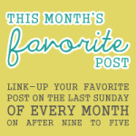 This Month's Favorite Post Link-Up