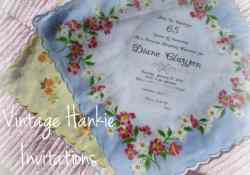 Vintage Hankie Invitation Tutorial