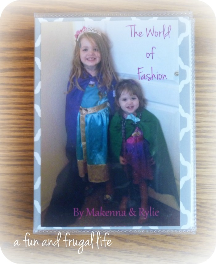"""""""Fashion catalog"""" photo album gift from A Fun and Frugal Life"""