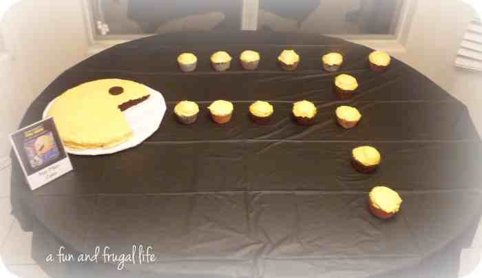 Pac Man cake from A Fun and Frugal Life