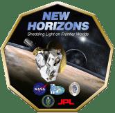 """New Horizons - Logo2 big"" by NASA/JPL/APL/SwRI via Wikimedia Commons"