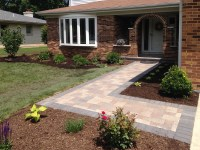 front paver entrance remodel in arlington heights ...