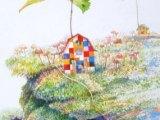 コロボックルの島から6 - 倒木(水彩 5号)