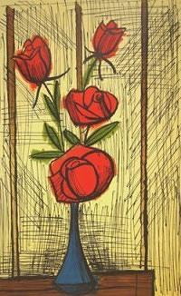 赤い薔薇(小)(リトグラフ)→売却済み