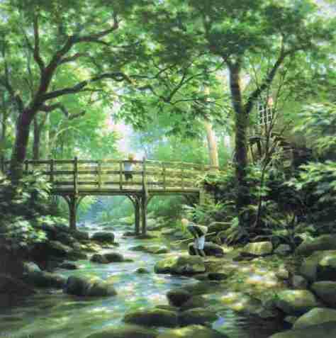 """笹倉鉄平「こもれび~大切な景色は消えない~ – """"The Play of Sunlight through the Trees""""」"""