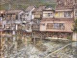 博多川の家並