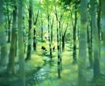 """笹倉鉄平「森の向こう - """"Through the Forest""""」"""
