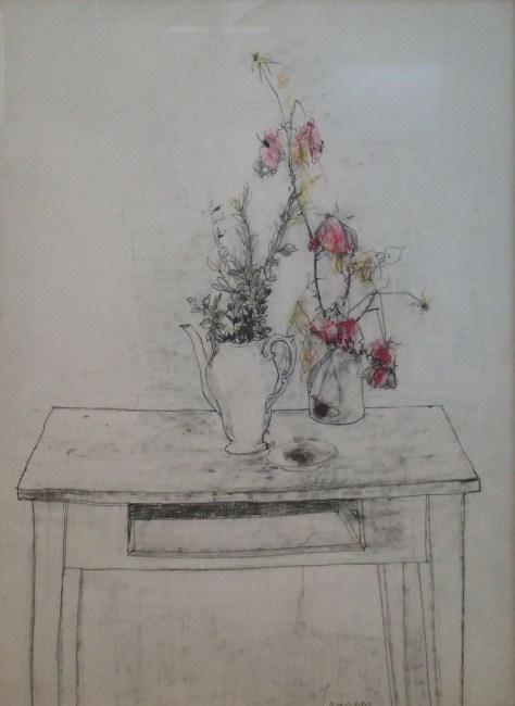 枯れた花(パステル)70×51c枯れた花(パステル)