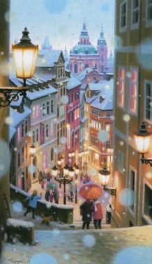 聖ミクラーシュ教会、雪の眺望~Mala Strana in Snow~