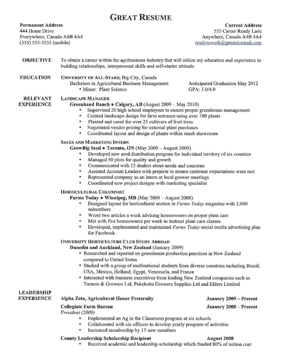 18 Professional Cv Templates And Examples Hloom Agcareers Agriculture Jobs And Agriculture Careers