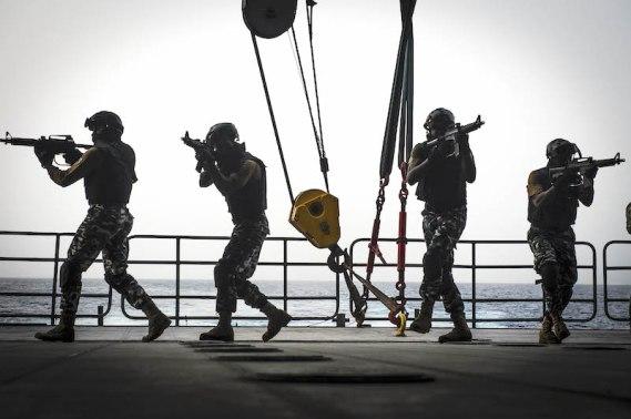Une concentration de forces maritimes