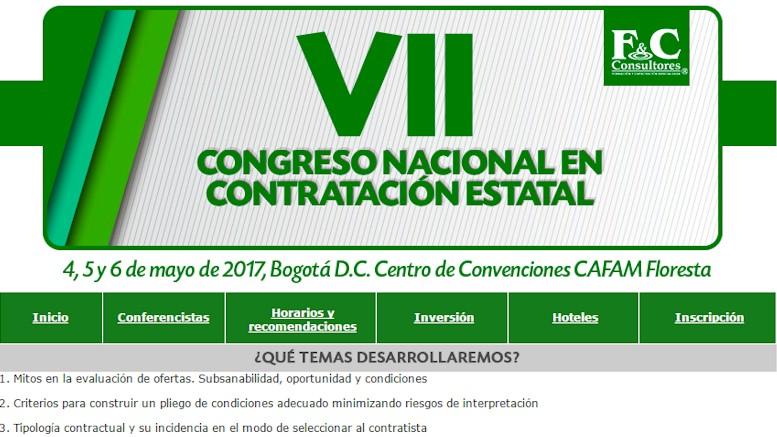 Agéndese con F&C Consultores al VII Congreso Nacional en Contratación Estatal
