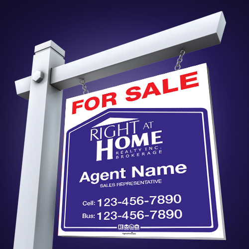 AgentPrint Right at Home For Sale Signs Canada\u0027s Favourite - forsale sign