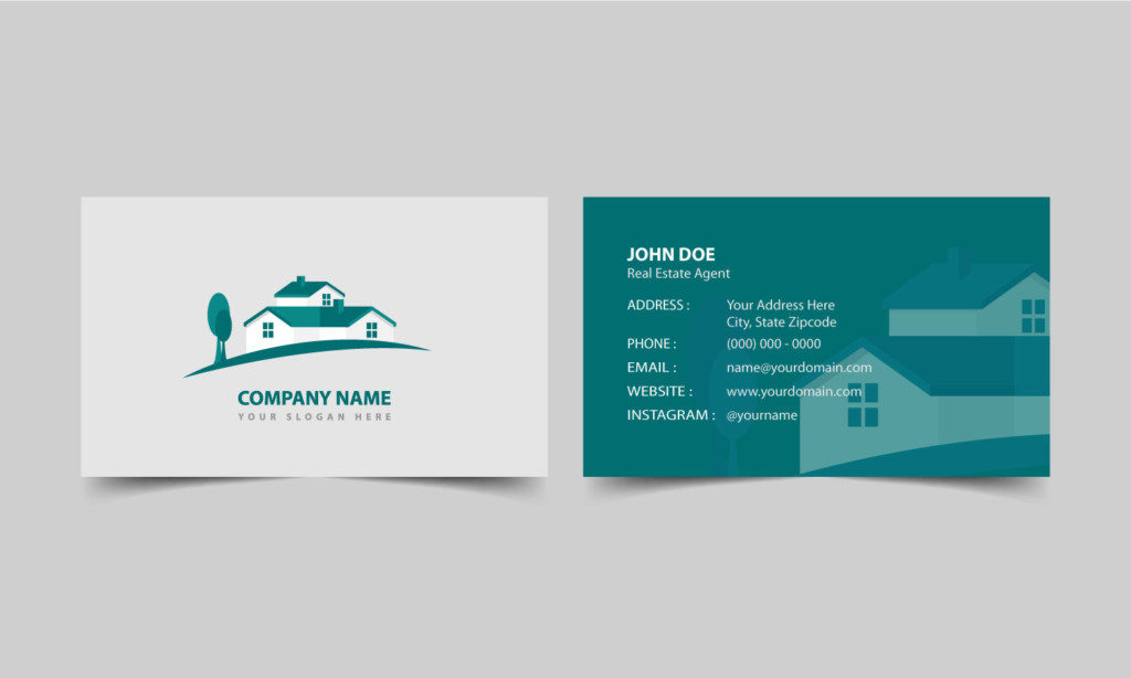 What to Put on a Real Estate Business Card Agent SITE