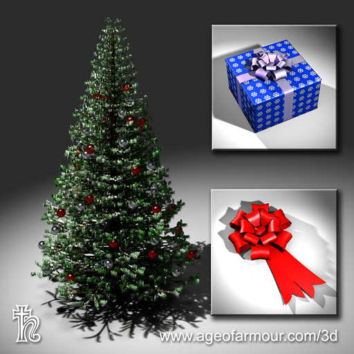 Age of Armour - Free 3d Christmas tree model for Poser and Daz Studio