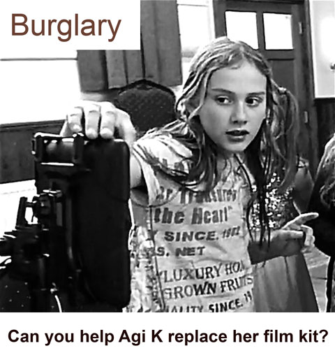 Appeal: Agi K burgled