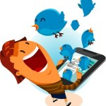 Happy Person and Twitter Bird