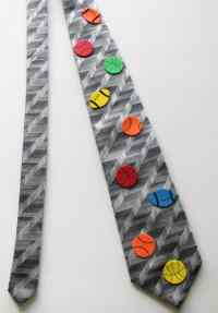 bedazzled father's day ties - A girl and a glue gun