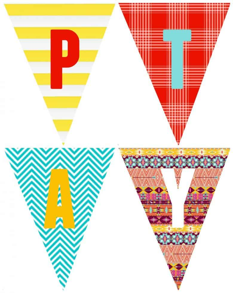 free happy birthday banner printable