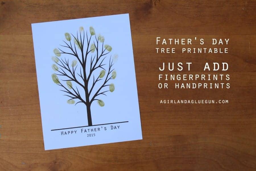 Father\u0027s day handprint tree - A girl and a glue gun