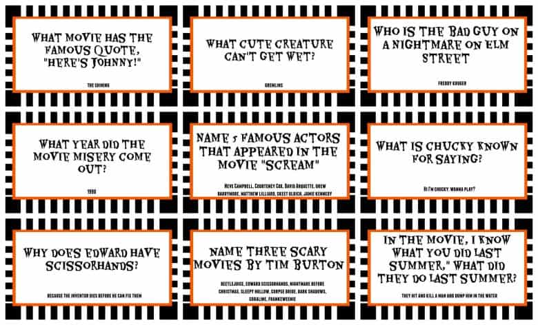 photo about Printable Halloween Trivia named Halloween Video clip Trivia Printable