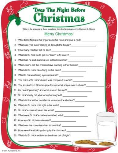 christmas charades game and free printable roundup! - A girl and a
