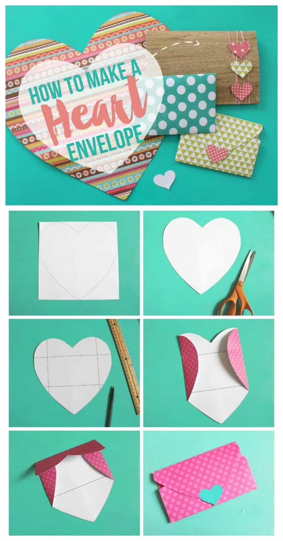 Stunning Valentines Heart Shaped Envelopes A Girl A Glue Gun How To Make A Heart Or Characters549 Your Hands Cialmedialoguefacebook Heart How To Make A Heart Shaped art How To Make A Heart