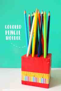 Make Your Own Crayon Holder Tutorial
