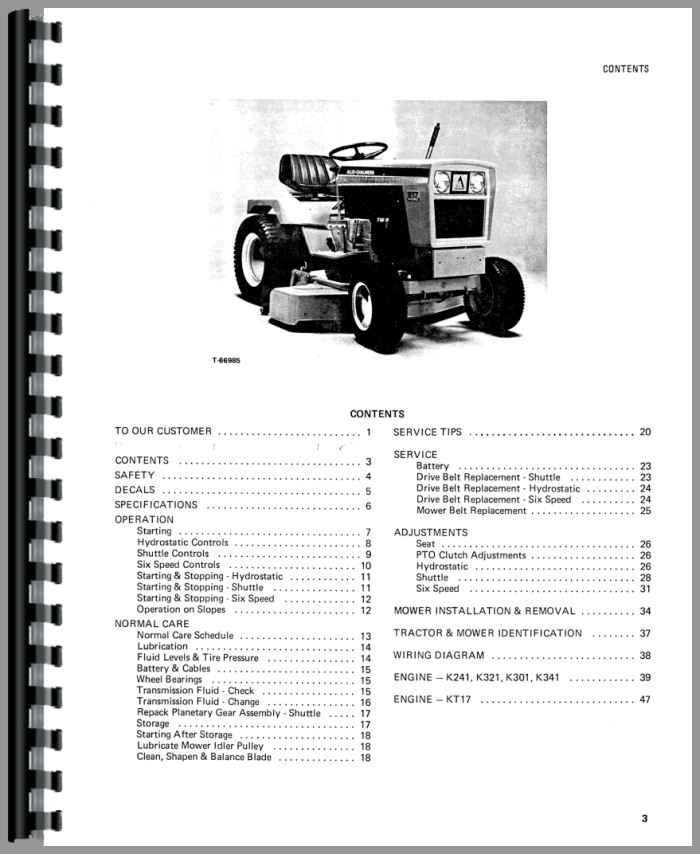 Allis Chalmers 914 Lawn  Garden Tractor Operators Manual