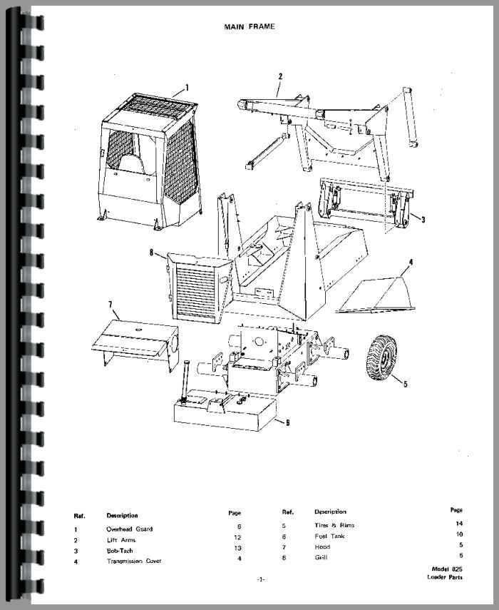 wiring diagram for bobcat 610 skid steer