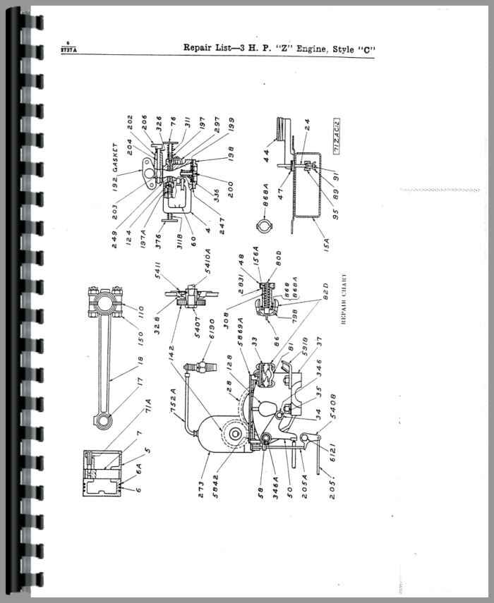 wisconsin v4 engine diagrams
