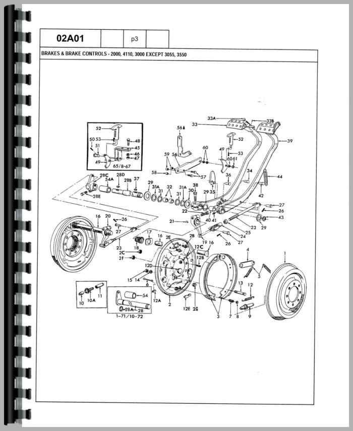 ford 4000 tractor transmission parts diagram