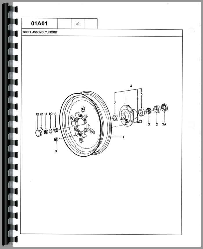 Ford 445 Industrial Tractor Parts Manual