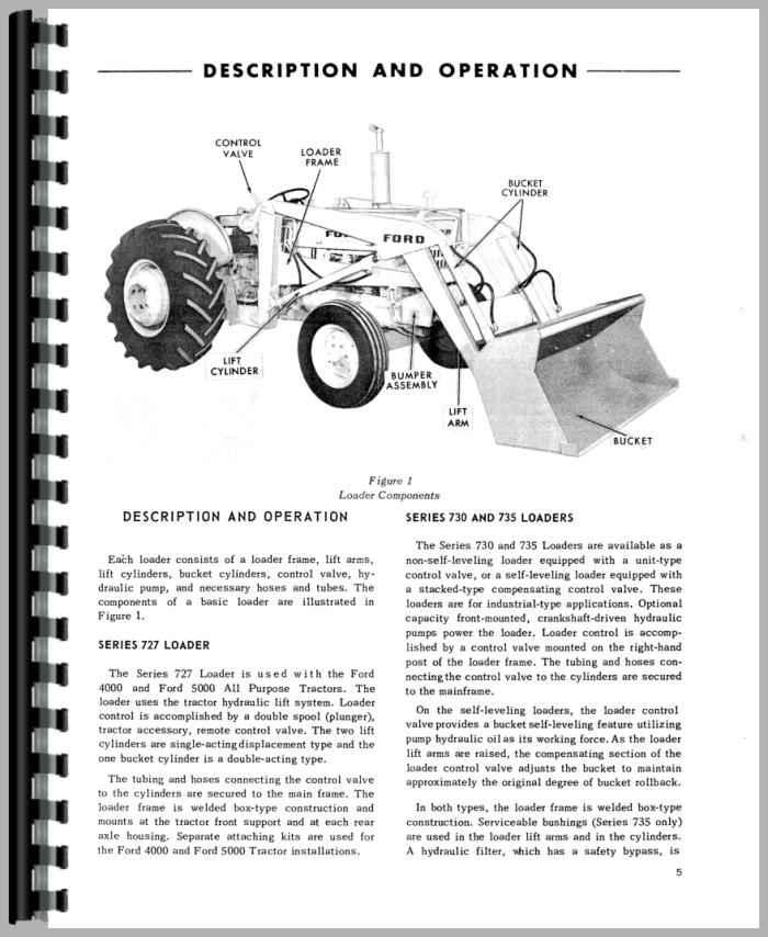 ford 5500 backhoe repair manual