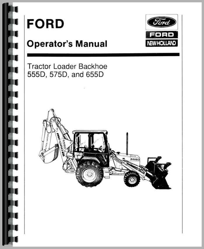ford backhoe manual