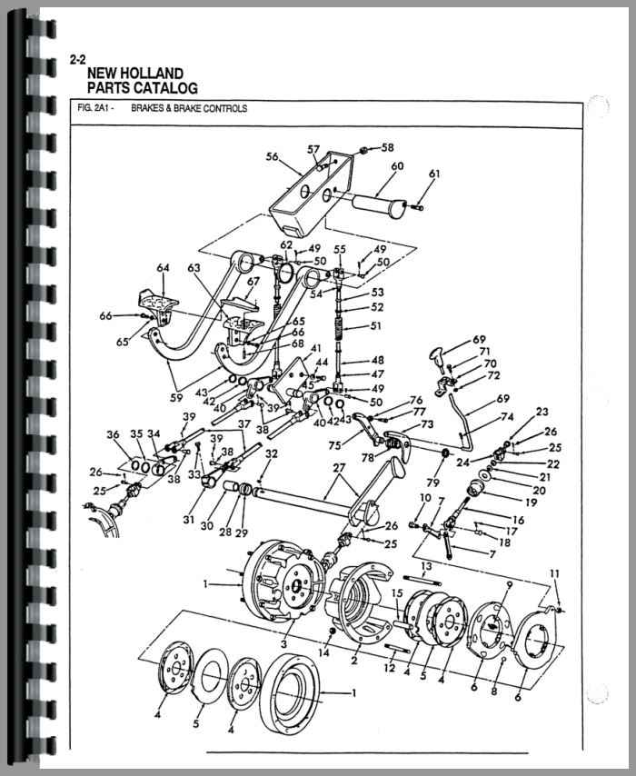 Ford 655 Tractor Parts Manual